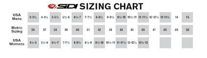 Sidi Size Chart Cycling Sidi Size Chart Bedowntowndaytona Com