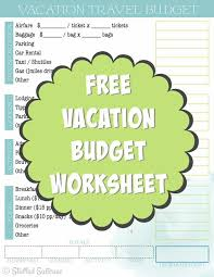 travel budget worksheet create a travel budget vacation cost worksheet