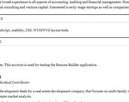 Free Resume Building Websites