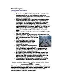 acid rain investigation a level science marked by teachers com page 1 zoom in