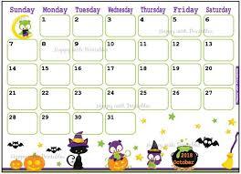 Cute Calendar Template Classy Calendar October 44 Halloween Planner Printable Cute Etsy
