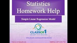 simple linear regression model statistics homework help by simple linear regression model statistics homework help by classof1 com