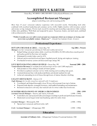 Restaurant General Manager Resume Restaurant General Manager Resume Fascinating Sample For Fast Food 15