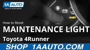03 4runner Maintenance Light Reset How To Reset Maintenance Light 03 09 Toyota 4runner