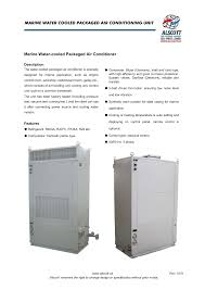 Air Conditioning Plenum Design Marine Water Cooled Packaged Air Conditioning Unit