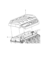 engine cover related parts for 2012 chrysler 200 2012 chrysler 200 engine cover related parts diagram i2270490