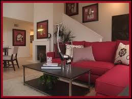 living room decor red couch living room