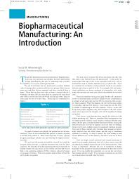 Biopharmaceutical Manufacturing Process Flow Chart Biopharmaceutical Manufacturing Introduction