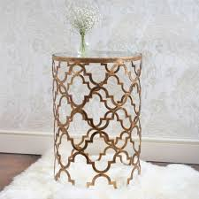 Moroccan Bedroom Furniture Uk Quatrefoil Metal Side Table French Bedrooms Guest Rooms And