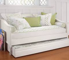 simple and neat small bedroom decoration using pop up trundle daybed frames beautiful white green
