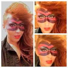 long hair faux hawk side shaved masquerade make up stephanie eiland san antonio texas hair make
