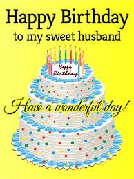 To My Sweet Husband Happy Birthday Card Birthday Greeting