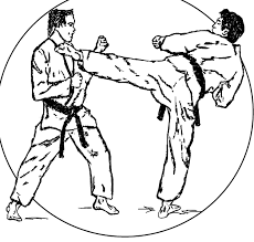 easy karate coloring pages free and print for