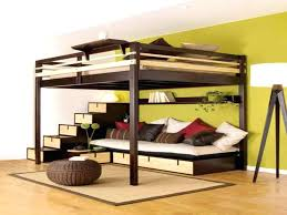 mixing work with pleasure loft beds desks underneath double loft bed incredible ideas for