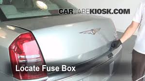 interior fuse box location chrysler chrysler interior fuse box location 2005 2010 chrysler 300