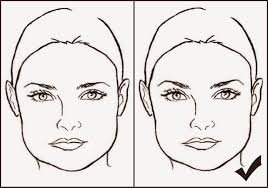 eyebrow shapes for square faces. square best eyebrows for a face shape face. «« eyebrow shapes faces