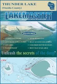 Lakemaster Charts Canada Lakemaster Lpwitrp03 08 Paper Map Thunder Onieda By