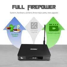 K7 Smart Tv Box Dvb-S2 & Dvb-T2/T & Dvb-C Android 9.0 S905X2 64 Bit 2.4g+5g  Dual-Band Wifi Bt 4.1 Hd