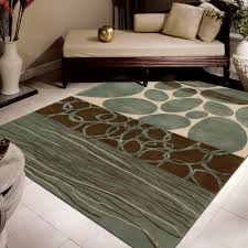 round modern area rugs 5 x 7 for living room with accent wall