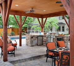 Covered Outdoor Kitchen Plans Covered Outdoor Kitchen Plans Patio Traditional With Ceiling Fan