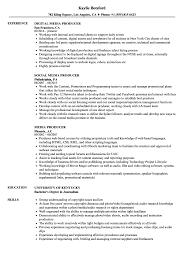 Media Producer Sample Resume Media Producer Resume Samples Velvet Jobs 12