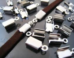 Image result for fold over silver cord ends