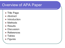 apa style ppt  overview of apa paper title page abstract introduction methods results