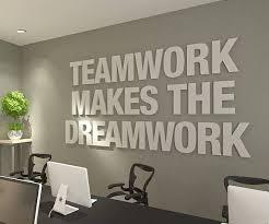 office wall art. Teamwork Makes The Dreamwork 3D Office Wall Art Typography Office Wall Art U