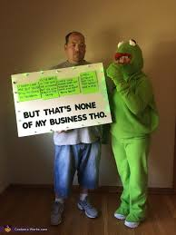kermit meme it s none of my business costume photo 3 of 3