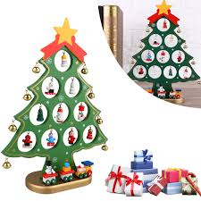 image is loading diy wooden christmas ornaments festival party xmas tree