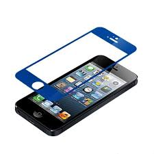 iphone 5 5s 5se front back mirror effect tempered glass screen protector blue