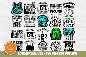 No physical item will be sent in mail. Dad Svg Bundle Best Dad Ever Svg Beer Sign Svg Dad Sign 576464 Cut Files Design Bundles