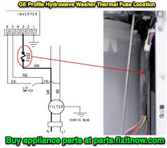 how to locate the thermal fuse in a ge profile ldquo hydrowave rdquo washer ge hydrowave washer thermal fuse location