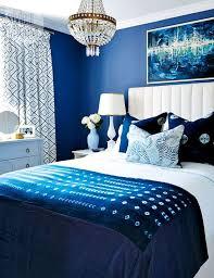 classic blue white bedroom