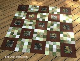 My Quilt Infatuation: An Outdoorsman's Quilt & It's so surprising sometimes to learn what is meaningful for certain  people. By that, I mean that you might not necessarily think that a big, ... Adamdwight.com