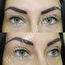 татуаж бровей волосковый с растушевкой фото до и после