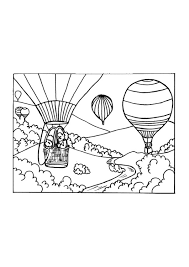 Kleurplaat Luchtballon Afb 9650 Images