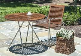 wood bistro patio furniture outdoor table set ikea