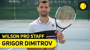 Последние твиты от grigor dimitrov (@grigordimitrov). Wilson Pro Staff Grigor Dimitrov Tennis Point De Youtube