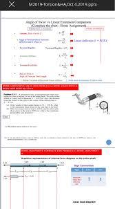 Solved X M2019 Torsion Ha O Ct 4 201 9 Pptx Angle Of Twi