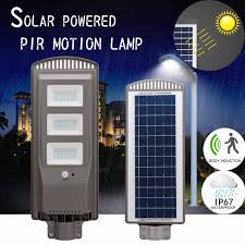 Pole Mounted Solar Light Us 19 7 50 Off 20 40 60w Led Sensor Solar Panel Power Wall Street Light Pir Motion Lamp Waterproof Ip67 50cm Mounting Pole For Outdoor Lighting In