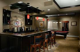 Basement Bar Ideas with Black and White Theme HomeStyleDiarycom
