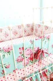 roses baby bedding girls crib bedding per set in dusty blue and pink romantic blooms fl roses baby bedding