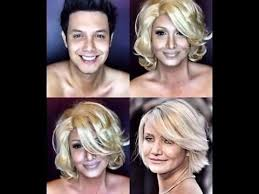 this guy can transform himself into any celebrity with a wig and some makeup
