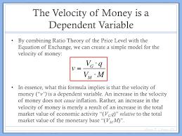 what determines the velocity of money