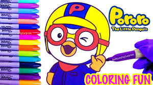 Pororo The Little Penguin Coloring Page Fun Coloring Activity For