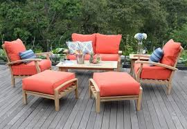 wood patio furniture with cushions. Simple Wood New 7 Piece Teak Wood Outdoor Patio Seating Set Garden Furniture Red  Cushions With D