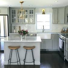 white countertops with grey cabinets grey cabinets with white quartz black hardware kitchen granite grey cabinets