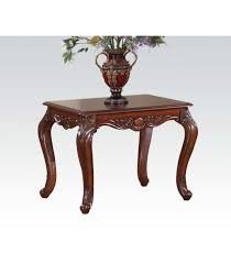end table dark brown leather