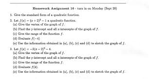 math precalculus  homework assignment 16
